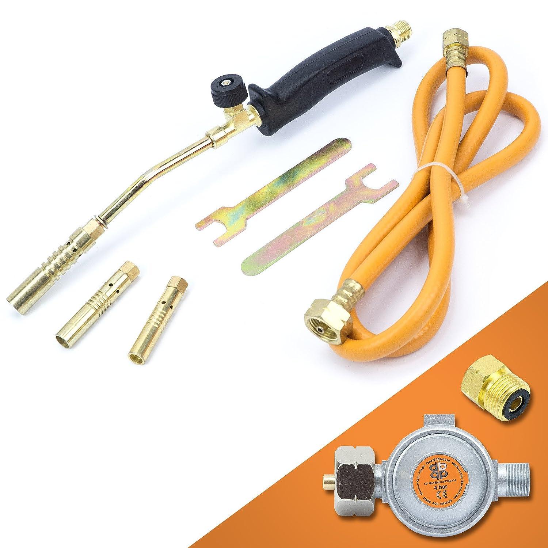 Gasbrenner Handlötset Lötbrenner Handlötgerät Lötkolben Gasdruckregler SN0015R Sellnet