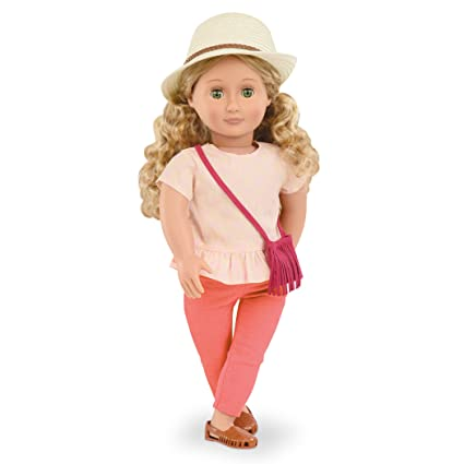 225279a2c325 Amazon.com  Our Generation Brielle-Doll with Fringe Purse and Hat ...