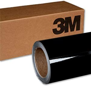 3M 2080 G12 Gloss Black 5ft x 45ft (225 Sq/ft) Car Wrap Vinyl Film