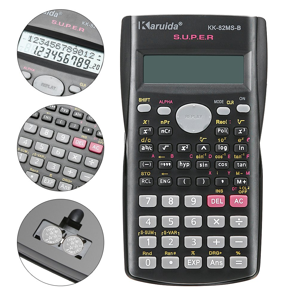 Demiawaking Portable Handheld Maths Calculator 8 Digit Battery Powered for School Home Office Desktop