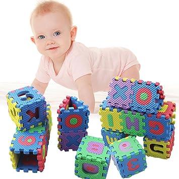 Sunsoar 36PCS/Set Alphabet & Numerals Baby Kids Play Mat Educational Toy Soft Mats