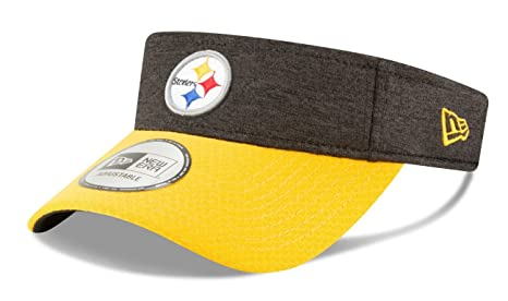 finest selection 91e98 3b4cd Image Unavailable. Image not available for. Color  New Era Pittsburgh  Steelers NFL 2018 Official Sideline Performance Visor