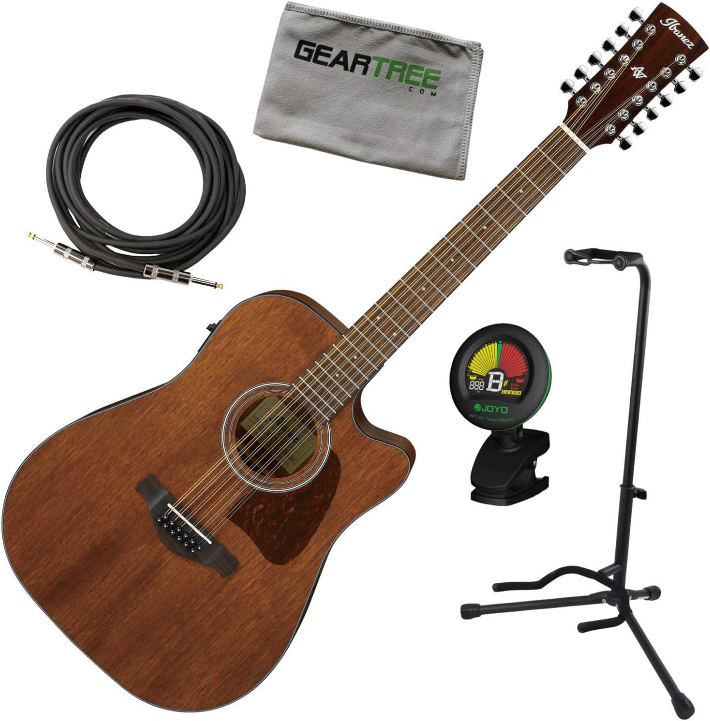 Ibanez AW5412CE OPN - Guitarra eléctrica acústica con afinador ...