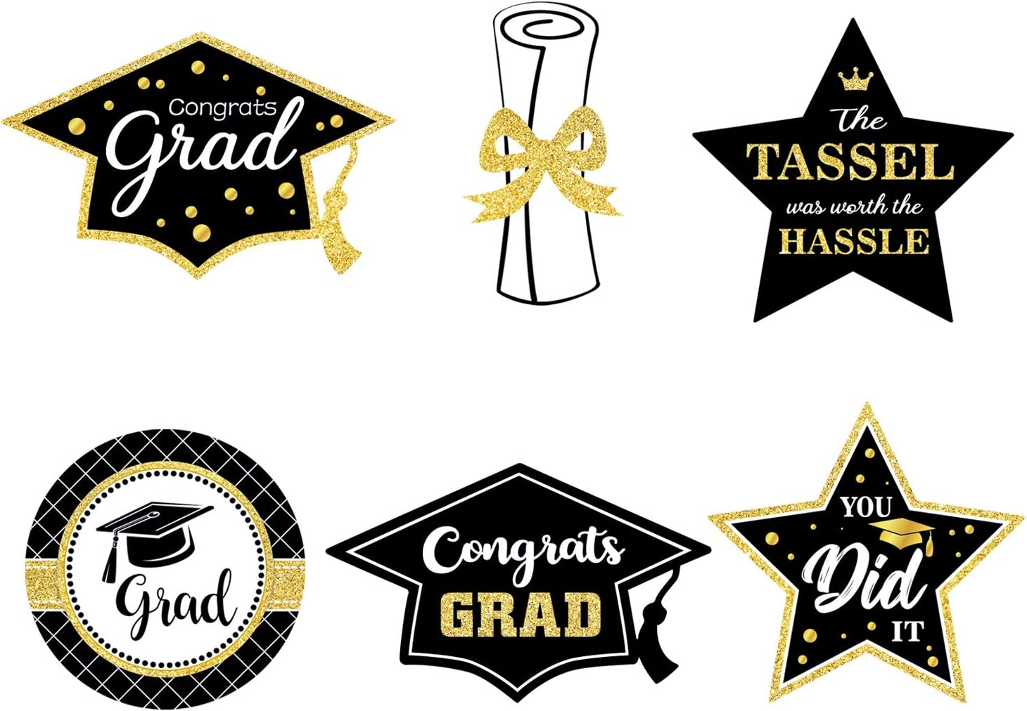 Graduation Party Favors 2021 Graduation Confetti Pack of 25 Pieces Confetti Includes Grad Cap and Star