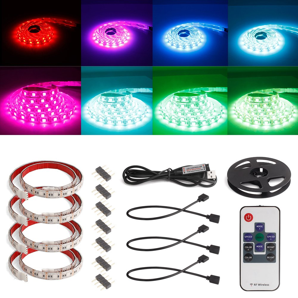 Forever Speed LED Lichtschlauch RGB USB LED Strip Streifen TV Lighting DC 5V USB 4*50cm LED [Energieklasse A+] 34SP0028-01