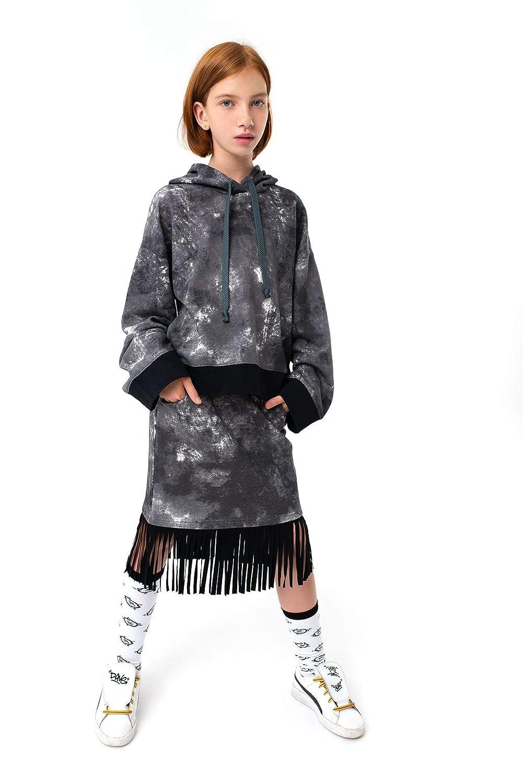 Yumster Casual Black Fringe Kids Skirt