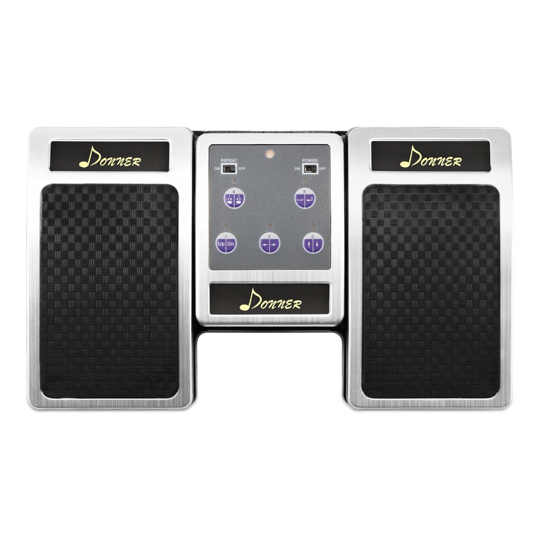 Donner Bluetooth Cambiador de Página Pedal de Música para iPad / Tableta Android / MAC / PC Color Plata: Amazon.es: Instrumentos musicales