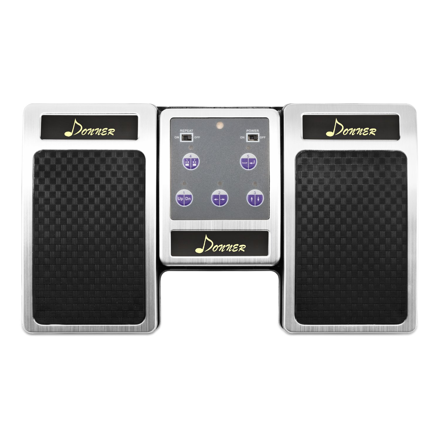 Donner Bluetooth Page Turner Pedal for Tablets Ipad Rechargeable, Silver