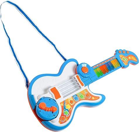 HOMCOM 4 EN 1 Guitarra Infantil Juguete Electrónico Musical ...
