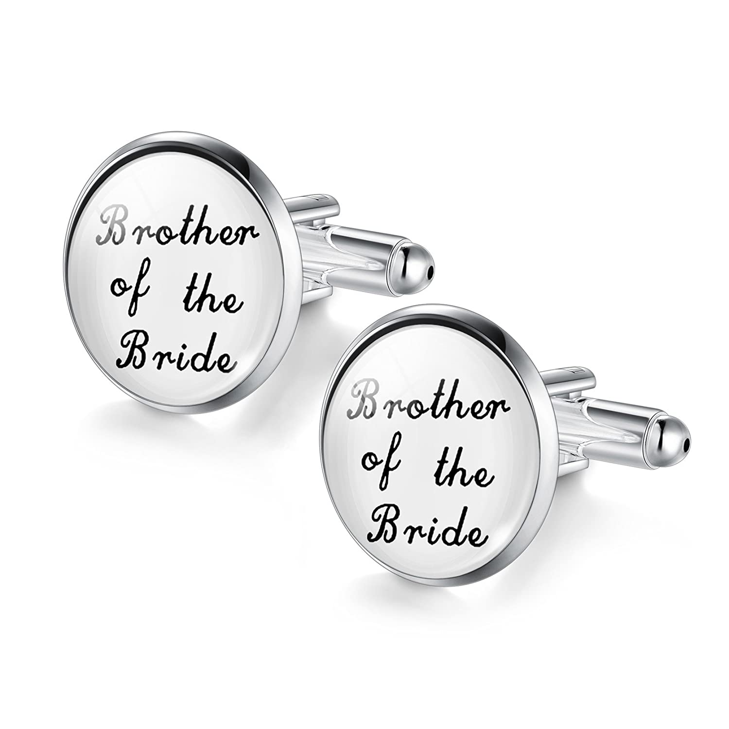 Jiayiqi Mens Wedding Cufflinks Mother of The Bride Gifts IB625