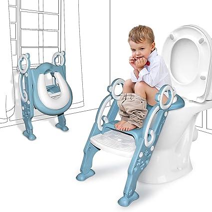 Children Kids Baby Boy Girl Potty Training Toilet Seat Chair Step with Ladder