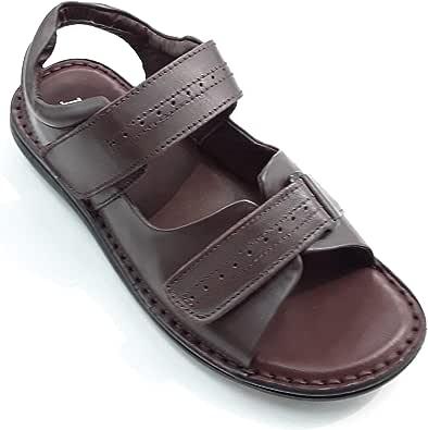 LEMEX Brown Active leather Sandal for Men