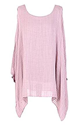 5c769cf872ae Womens Cheese Cloth Vest Lace Net Loose Fit Batwing Holidays Beach Cotton  Kimono Sleeve Baggy Top