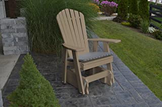 product image for Outdoor Poly Adirondack Gliding Chair - Weather Wood