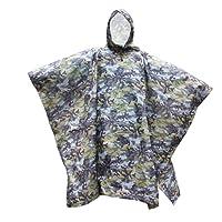 BESTOYARD Manteau de Pluie à Capuche imperméable Manteau de Pluie Poncho (Camouflage, Vert)
