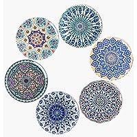 BOHORIA Premium design onderzetters, set van 6 decoratieve onderzetters voor glas, kopjes, vazen, kaarsen op uw hout…