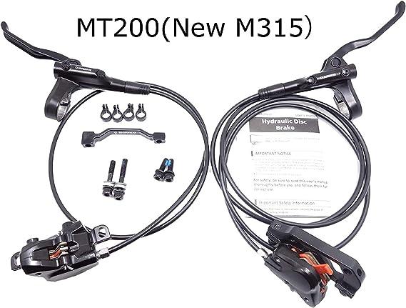 JGbike Shimano MT200 MTB Hydraulic Disc Brake Set for Mountain Bike Bicycle MTB XC Trail