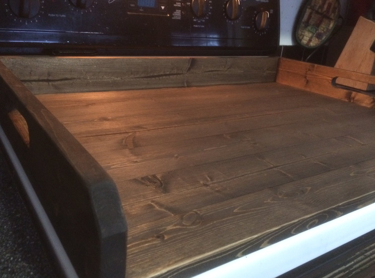 Rustic noodle board, stove top cover, stove board by LodgeDecorNMore (Image #2)