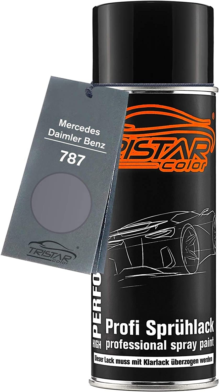 Tristarcolor Autolack Spraydose Für Mercedes Daimler Benz 787 Mountaingrau Metallic Mountain Grey Metallic Basislack Sprühdose 400ml Auto