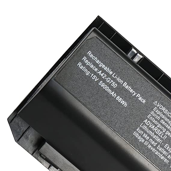 Amazon.com: New A42-G750 Laptop Battery for Asus (ROG) G750 G750J A42-G750 G750JW G750JX G750JZ G750JH G750JM G750JS Series G750Y47JX-BL 0B110-00200000M ...