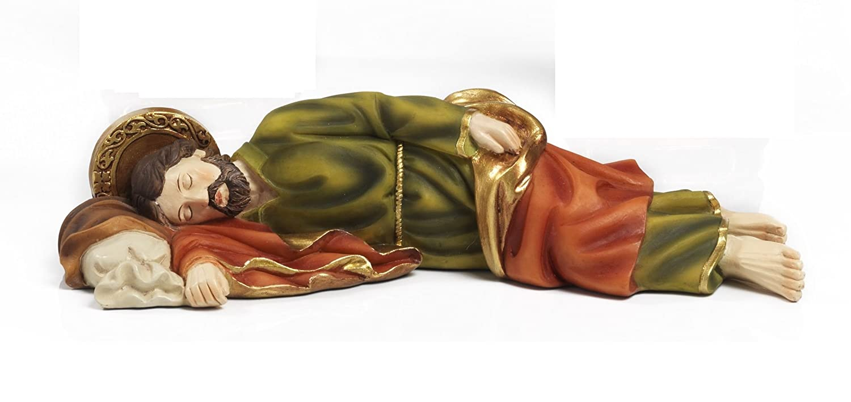 Paben Articoli Religiosi Statua San Giuseppe dormiente cm 12,8 in resina by Paben