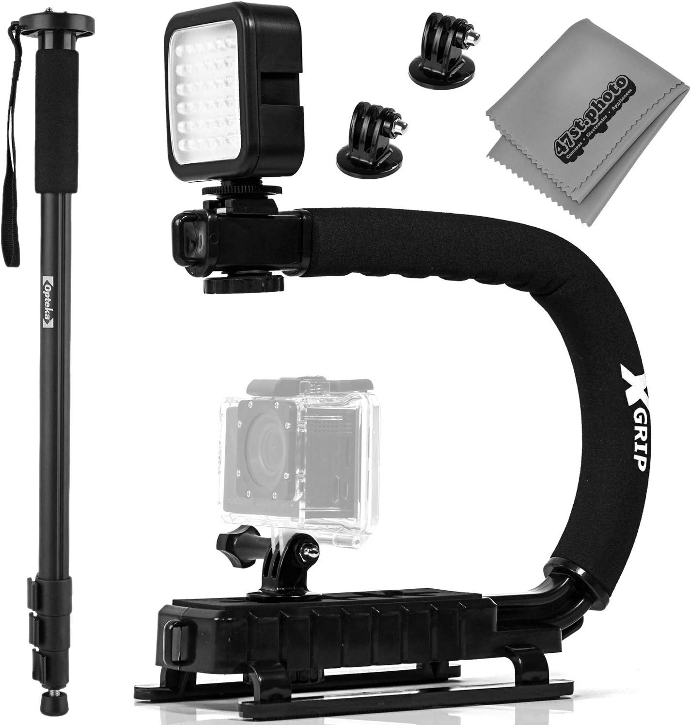 Pro Video Stabilizing Handle Grip for Sony Cyber-Shot DSC-T33 Vertical Shoe Mount Stabilizer Handle
