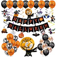 Halloween Party Decorations Balloon Set, Happy Halloween Alphabet Banner Ghost Tree Giant Balloon Card Set,Inflatables…