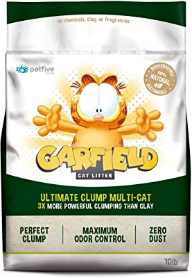 Garfield Cat Litter All Natural, Fast Clumping, Purrfect for Multi-cat Homes