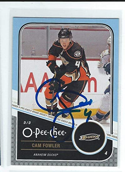 Cam Fowler Signed 2011/12 O-Pee-Chee Card #176 - Autographed ...