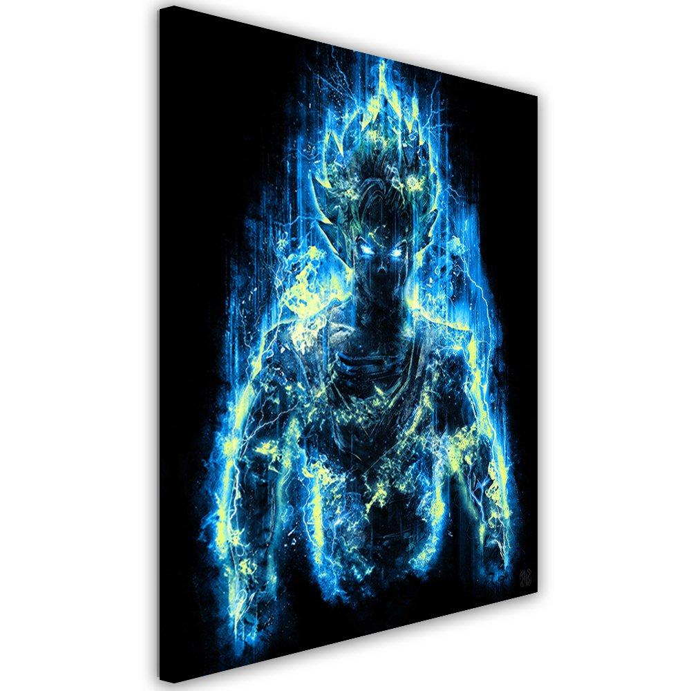 Feeby. Feeby. Feeby. Wandbild - 1 Teilig - 50x70 cm, Leinwand Bild Leinwandbilder Bilder Wandbilder Kunstdruck, Barrett Biggers - Anime Blau 02af66