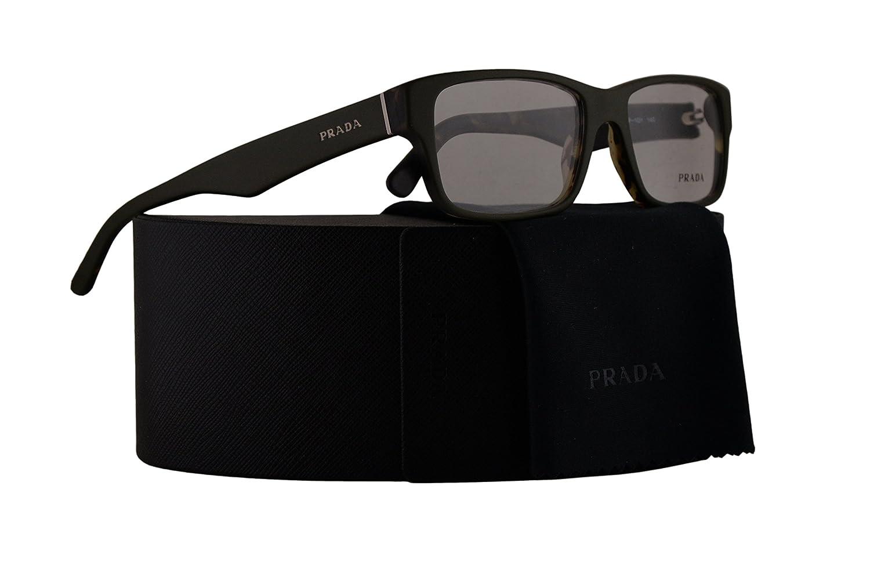8cdf388fdad Amazon.com  Prada PR16MV Eyeglasses 53-16-140 Top Green Matte Tortoise w  Demo Clear Lens UBF1O1 VPR16M VPR 16M PR 16MV  Clothing