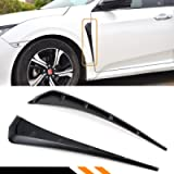 Cuztom Tuning Fits for 2016-2019 Honda Civic FK8 Type-R Style Add on Black Front Fender Side Vent Cover Trim