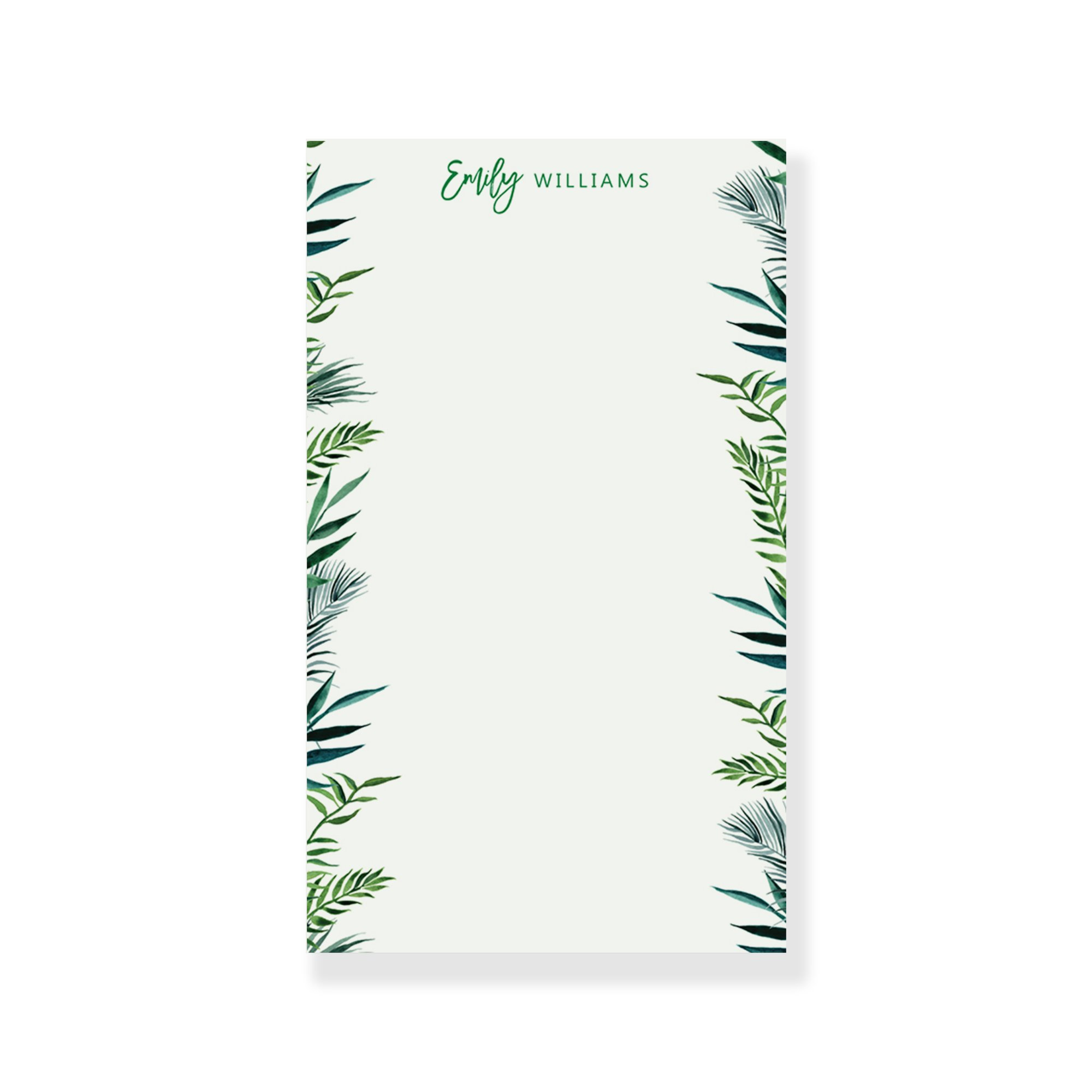 Greenery Notepad, Stationary for Women, Stationary for Men, Personalized Stationary Paper Notepad