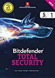 BitDefender Total Security - 5 Users, 1 Year Windows (Activation Key Card)