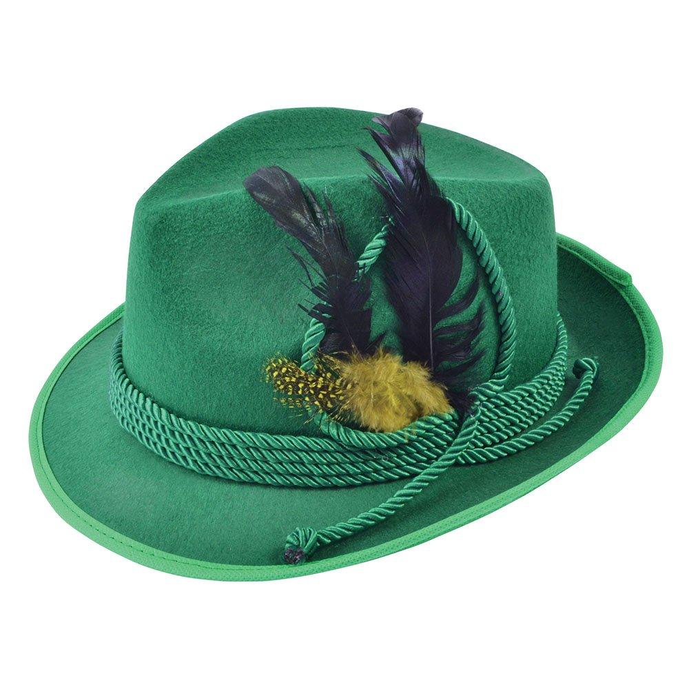 Sombrero de Fieltro con Plumas para Disfraz Bristol Novelty