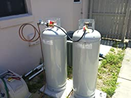 Hook up propane tank to furnace