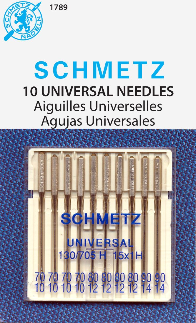 SCHMETZ Universal (130/705 H) Household Sewing Machine Needles - Carded - Assortment - 10 Pack 1789C