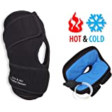 NatraCure Hot/Cold & Air Compression Knee Brace Support - (6022 CAT) - Alleviates Knee Pain from Meniscus & ACL Tear, Arthritis, Sports Injury, Running, and Joint Pain