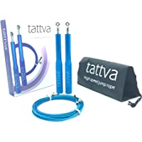 Premium High Speed Jump Rope | Skipping Rope by Tattva | Free Spare Rope Included | Free Pair of Spare Screw Set Included
