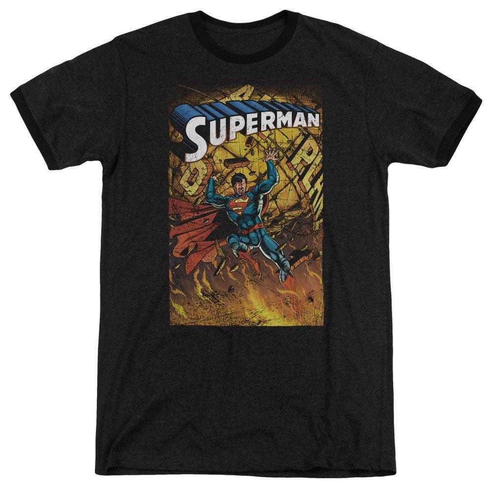 Superman Shirt S One Adult Ringer T