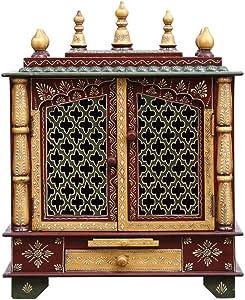 MOJO PANDA Wooden Temple/Home Temple/Pooja Mandir/Pooja Mandap/Temple for Home (18 12 24)