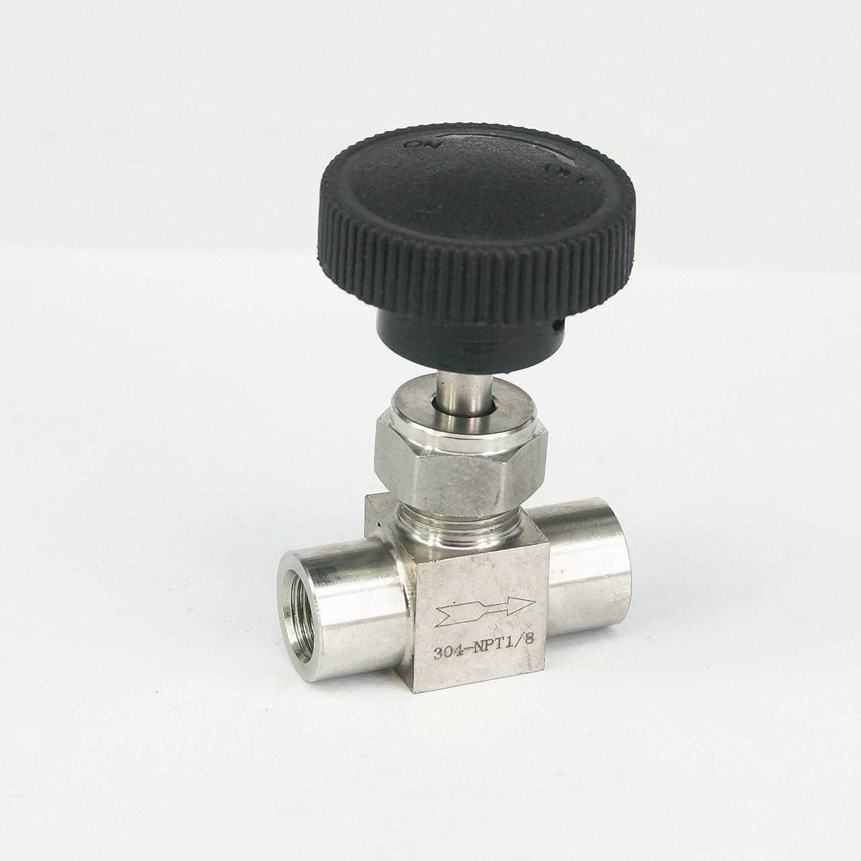 "1//4/""BSP Female Thread Stainless Flow Control Shut Off Needle Valve Water Gas SL"