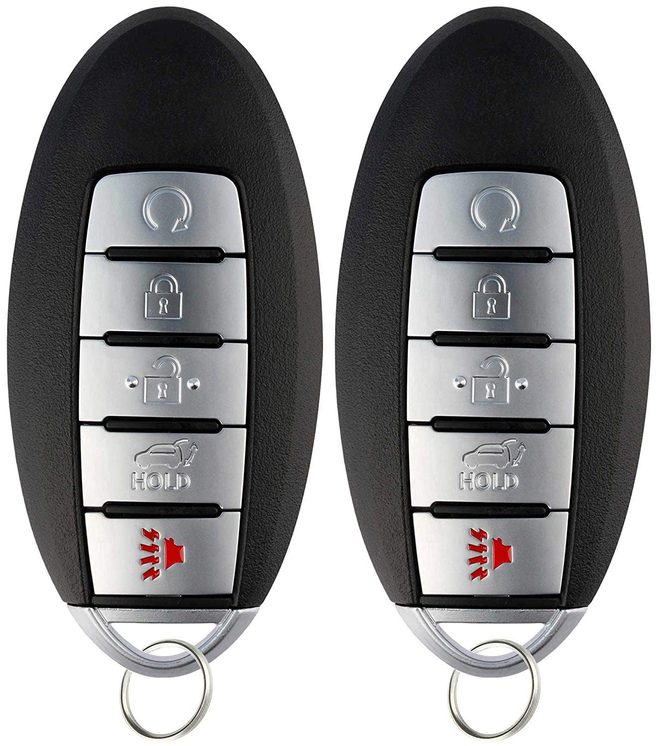 KeylessOption Keyless Entry Remote Start Smart Car Key Fob Alarm for Nissan Pathfinder Murano Infinti QX60 KR5S180144014 Pack of 2