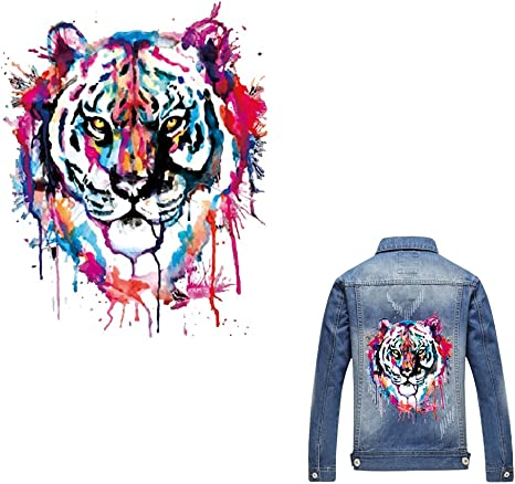 Tiger Iron On Patch Heat Transfer Sticker Applique DIY Clothing T-Shirt Decor