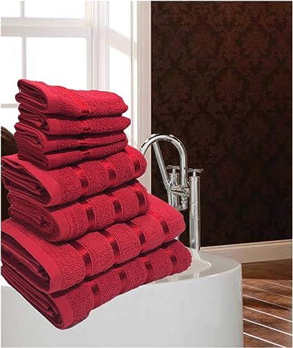 Cotton Gaveno Cavailia Luxurious 8 Pack Boston Towel Bale Set 4 Face, 2 Hand and 2 Bath Mocha