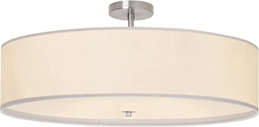Worldwide Lighting Julie 6 Light Chrome Oval Drum Chandelier
