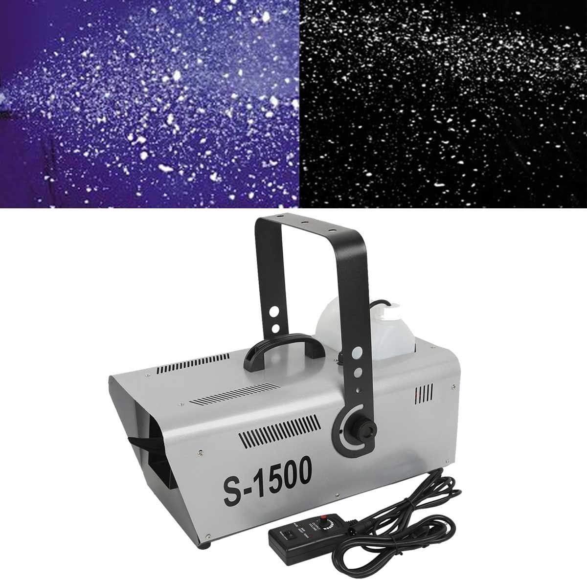 Tengchang 1500W Snow Machine Professional Stage DJ Party Snowflake Maker W/Controller