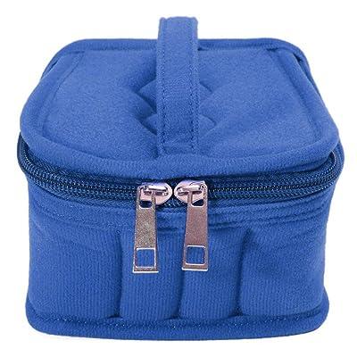 50%OFF 16 Bottles Essential Oils Carrying Case Travel Storage Bag,Blue