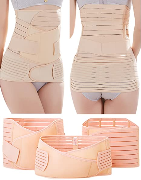 2fddb7c860 Postpartum Belly Band-Plus Size 3 in 1 Post Partum Girdle C-section Recovery