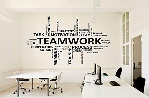 Amazoncom Office Wall Vinyl Art Decor Teamwork Decals